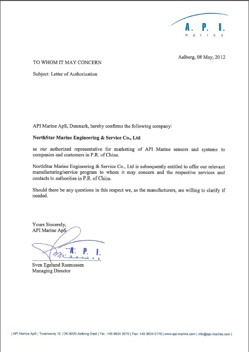 Representation of international makers business northstar marine letter of authorization altavistaventures Image collections